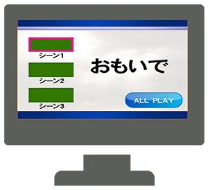 オーサリング(メニュー画面あり)
